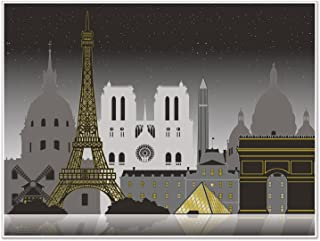 Beistle 59942 Paris Cityscape Insta Mural, 5' x 6'