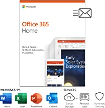 Microsoft Office 365 Home 12 Month Subscription up to 6 People PC and Mac Key Card