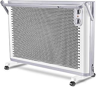 Radiador eléctrico MAHZONG Radiador de 2000 W, Calentador eléctrico portátil, 2 configuraciones de calefacción, termostato y Dispositivo de Apagado de Seguridad