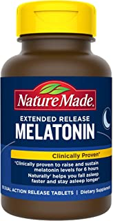Nature Made Extended Release Melatonin 4mg Tablets to Help You Fall Asleep Faster 90 Count