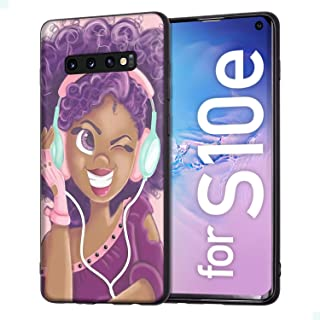 Samsung Galaxy S10e Case African American Afro Girls Women Slim Fit Shockproof Bumper Cell Phone Accessories Thin Soft Black TPU Protective Samsung Galaxy S10e Cases (16)