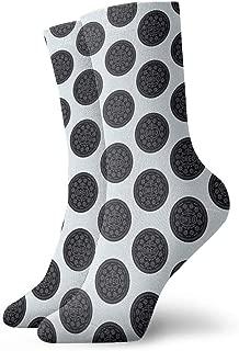 Unisex Cute Funny Casual Cotton Crew 3D Print OREO Work Sport Outdoor Soccer Socks
