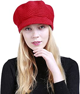 Hat,Cinhent Women Fashion Solid Warm Crochet Winter Wool Knit Manual Caps