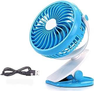 SHANGRUIYUAN-Mini Fan Mini Clip Multifunction Fan USB Small Fan Student Portable Walking Home Clip Fan Desktop Baby Trolley Car Fan (Color : Blue)