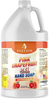 Pink Grapefruit Antibacterial Gel Hand Soap Refill 1 Gallon (128 oz) Refreshing Pink Grapefruit Scent Bulk ...