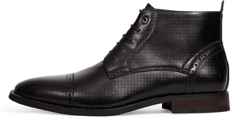 Bruno Marc Men's Dress Ankle Boots Cap Toe Oxford Boot