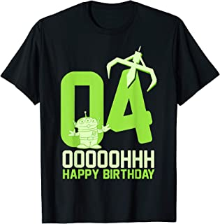 Disney Pixar Toy Story Aliens OOOOH Happy 4th Birthday T-Shirt