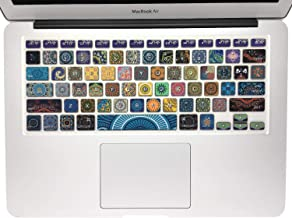 SANFORIN Silicone Keyboard Cover with Pattern for MacBook Pro 13/15 /17 Inch..