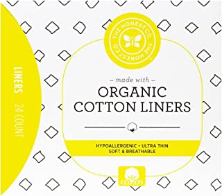 The Honest Company Organic Cotton Liners | Hypoallergenic | Ultra-Soft and Ultra-Thin | PH Compatible | Breathable | Plant-Based with Organic Cotton | Fine Liners | 24 Count