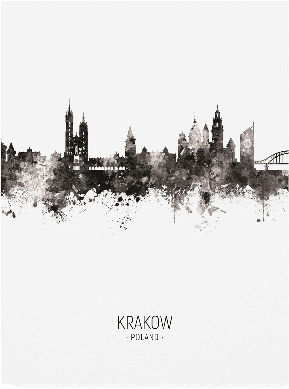 Trademark Fine Art Krakow Poland Skyline Portrait II