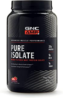 GNC AMP Pure Isolate, Strawberry, 1.95 lbs, Fuels Athletic Strength and Performance
