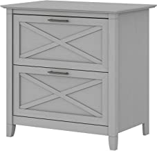 Bush Furniture Key West 2 Drawer Lateral File Cabinet, Cape Cod Gray