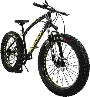 SAIGULA Fat Tire Bicycle Fat Mountain Bike 26 Inch 4.0