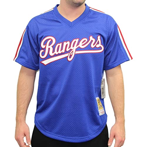 ce08b3830 Mitchell   Ness Nolan Ryan Blue Texas Rangers Authentic Mesh Batting  Practice Jersey