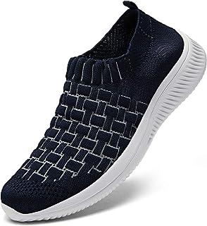 DKRUCAK Womens Comfort Elastic Sock Slip On Walking Shoes Lightweight Non-Slip Breathable(Size:5-11)
