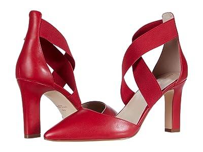 Cole Haan Maikki Elastic Pump 75 mm (Tango Red Leather/Gore) Women