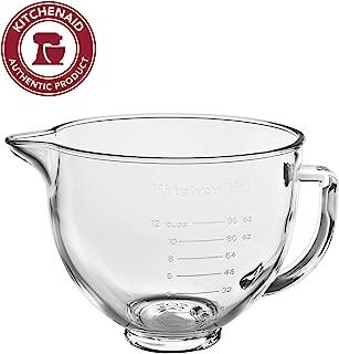 KitchenAid KSM5GB 5 Quart Tilt-Head Bowl Markings & Lid, Glass with Measurement Markings