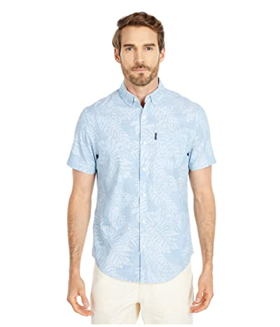 Original Penguin Leaf Print Shirt (Ballad Blue) Men