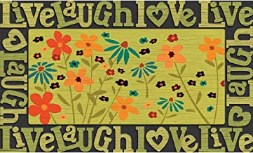 Masterpiece Live Love Laugh Wildflowers Door Mat, 18-Inch by 30-Inch
