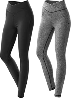 MEESU Womens Workout Leggings High Waisted Yoga Leggings Non See-Through  Tummy Control Pants for Running Cycling Gym Workout