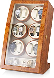 12 Watch Winder with 4 Storage Slots and Faux Leather Interior