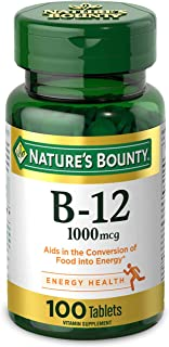 Vitamin B12 by Nature's Bounty, Vitamin Supplement, Supports Energy Metabolism and Nervous System Health, 1000mcg, 100 Tab...