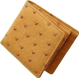 株式会社 三京商会(Sankyo Shokai) オーストリッチ レザー 折り財布 二つ折り 財布 メンズ
