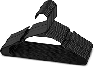 Sharpty Black Plastic Hangers, Plastic Clothes Hangers Ideal for Everyday Standard Use, Clothing Hangers (Black, 20 Pack)