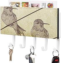 Crochet de clé fixé au mur, support mural de trieuse de courrier, organisateur de porte-clé de courrier, dessin d'illustra...