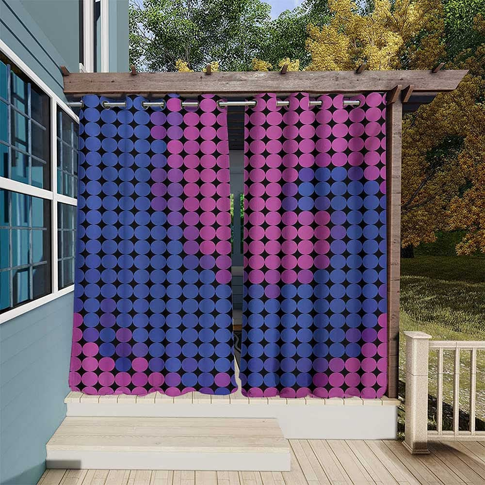 Spires Curtains Max 89% OFF Rare for Gazebo Spiral with Dotted Pixel Background