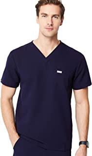FIGS Leon Two-Pocket Scrub Top for Men – Tailored Fit, Super Soft Stretch, Anti-Wrinkle Medical Scrub Top