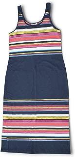 Tommy Bahama Women's Festival Stripe Midi Sleeveless Dress (Large) Ocean Deep