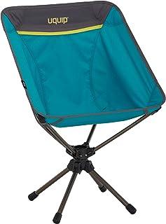 Uquip Silla Plegable Three Sixty - Silla de Camping Ligera con Innovador Sistema Giratorio de 360°, Color Azul