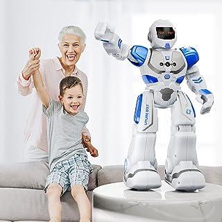 ربات های روکو برای کودکان ، ربات قابل برنامه ریزی هوشمند با کنترل حرکات از راه دور و دست ، اسباب بازی های پسرانه و دخترانه ، آبی