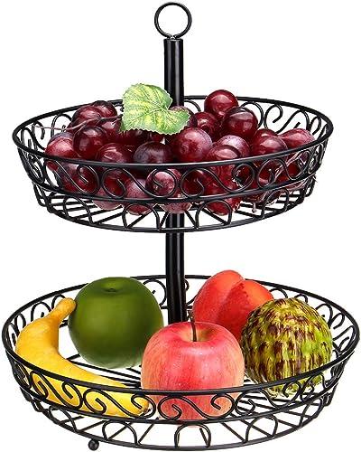 Felices compras MASUNN 30Cm Cocina Restaurante Fruit Vegetable Basket 2 Tier Plancha Plancha Plancha Estante Almacenamiento Organizador Soporte  Con precio barato para obtener la mejor marca.