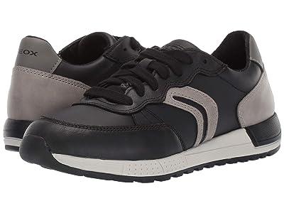 Geox Kids Jr Alben 8 (Big Kid) (Black/Green) Boys Shoes