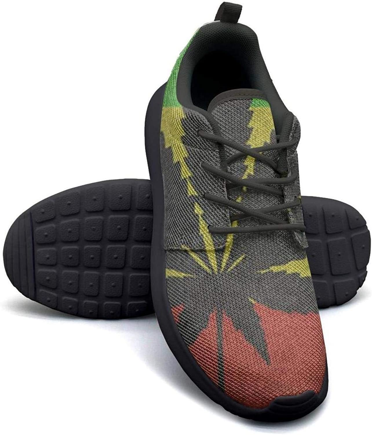 Gjsonmv Flag of Bolivia Marijuana Weed mesh Lightweight shoes for Women Fashion Sports Athletic Sneakers shoes