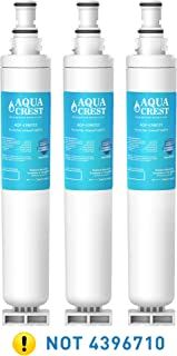 AQUACREST 4396701 Refrigerator Water Filter, Compatible with Whirlpool 4396701, 4396702, EDR6D1, EveryDrop Filter 6, Kenmore 9915, 46-9915 (Pack of 3)