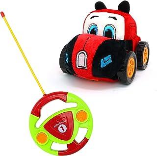 Big Mo's Toys RC Car - Mando a distancia para coche, regalo para bebés y niños pequeños con funda de felpa