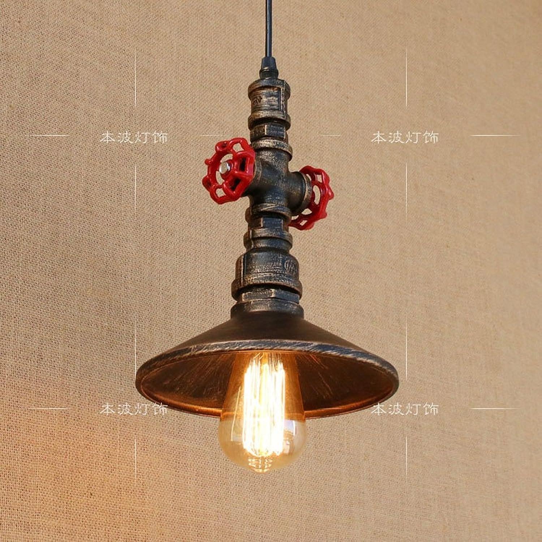 Xspwxn Kronleuchter Vintage Metall Wasser Pipe Decke Pendelleuchten Max 40W E27 1-Lichter Home Deco Kronleuchter Metall Anhnger Licht Garage Wasser Rohr Hngeleuchte