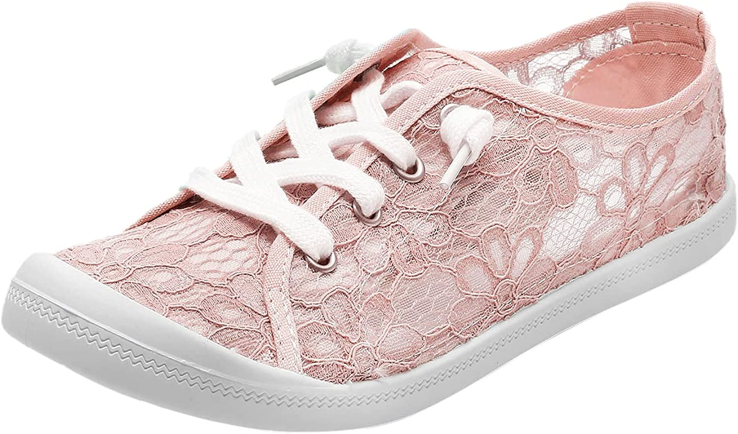 Women's Canvas Sneakers Walking Shoes for Women Sneakers Canvas Slip On Shoes Women Sneakers Lace Up Loafers Lightweight Running Shoes
