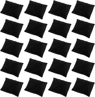 Sdootjewelry 20 Pieces Velvet Bracelet Watch Pillow, Small Black Velvet Pillows Jewelry Pillows Watch Bracelet Bangle Cushions