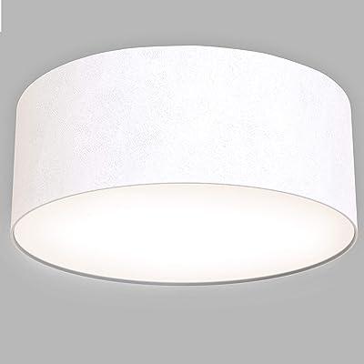 Briloner Leuchten Plafonnier LED en tissu Blanc 1350 lm 3000 K