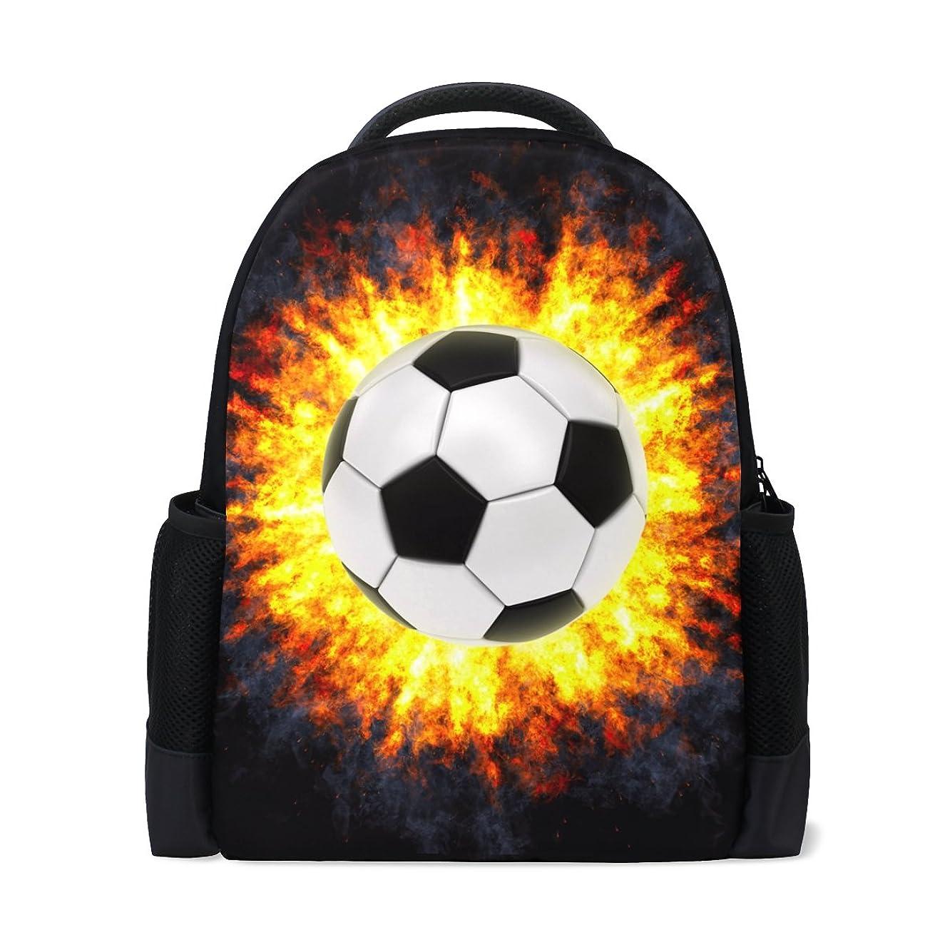 飼い慣らす傾向がある回復するマキク(MAKIKU) リュック 大容量 おしゃれ レディース 軽量 メンズ 通学 サッカー柄 ボール柄 ブラック 高校生 中学生 リュックサック プレゼント対応
