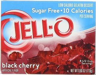 JELL-O Black Cherry Gelatin Dessert Mix (0.6 oz Boxes, Pack of 24)