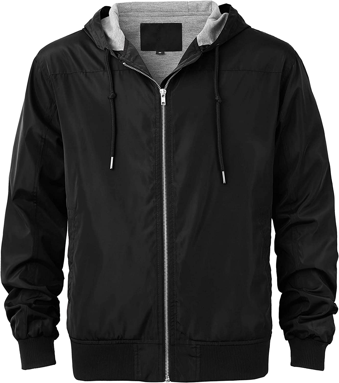 Ma Sales for sale Croix Essentials Mens Premium Windbreaker Hooded Light Jacket Popular popular