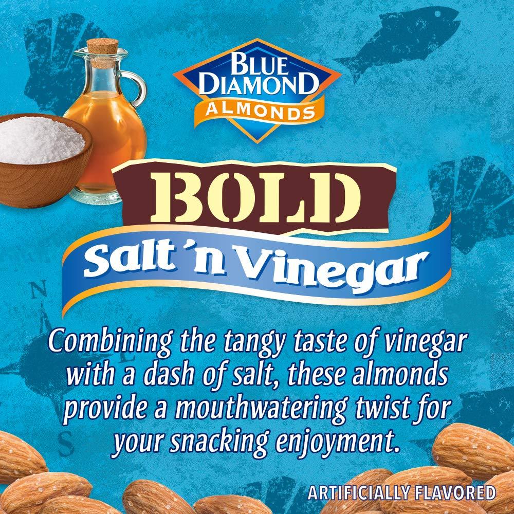 Blue Diamond Almonds Salt N' Vinegar Flavored Snack Nuts, 16 Oz Resealable Bag (Pack of 1)