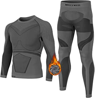MEETWEE Men's Thermal Underwear Set, Winter Base Layer Long Sleeve Long Johns Quick Dry Compression Top & Bottom for Sport...