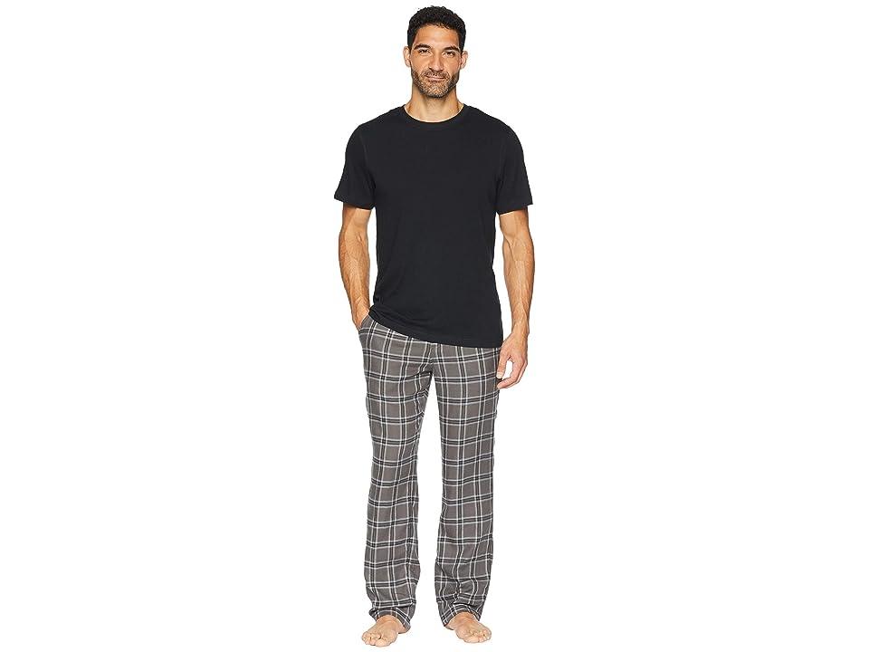 UGG Grant Woven Sleepwear Set (Charcoal/Black) Men