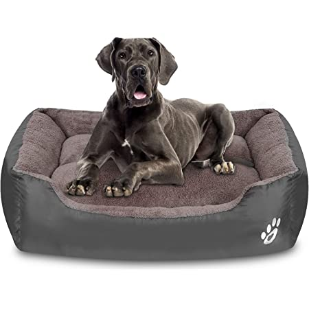 Amazon Com Warming Dog Beds For Medium Dogs Rectangle Washable Pet Bed With Firm Breathable Pp For Cats Sleeping Orthopedic Beds Kitchen Dining